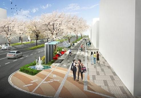 화곡동 가로공원길에 문화의 거리 조성및 가로공원 공영주차장