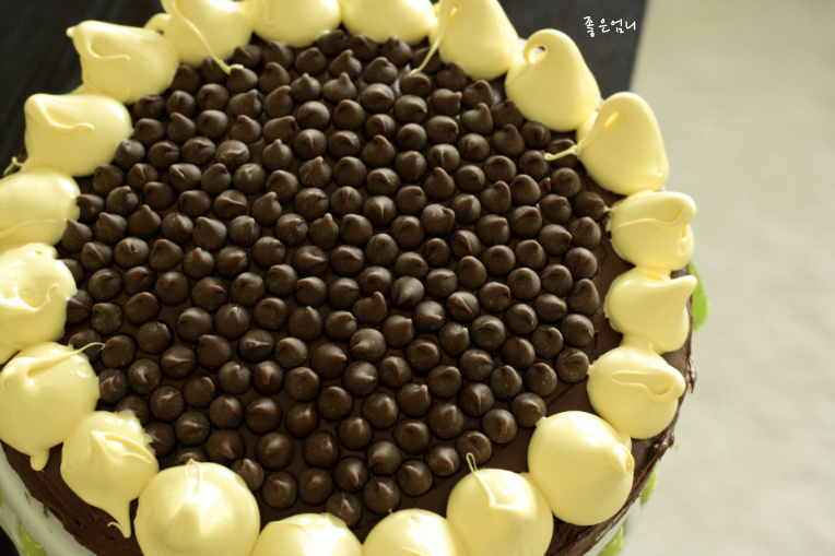 해바라기 케이크