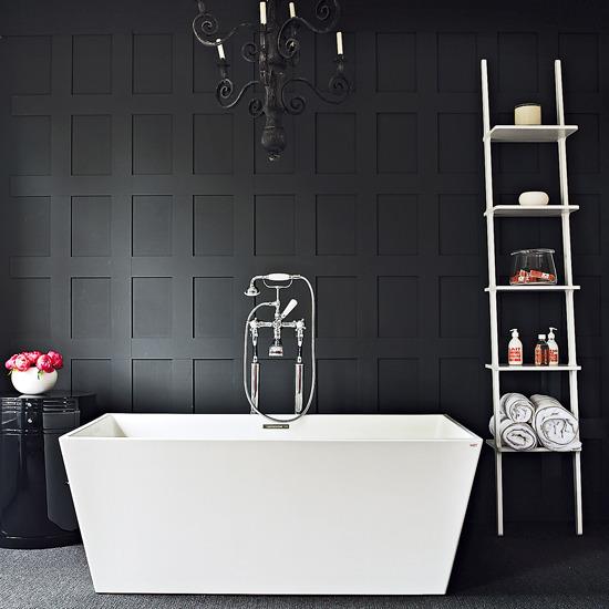 [화장실인테리어] 우아한 다크 컬러의 화장실 DARK BATHROOM