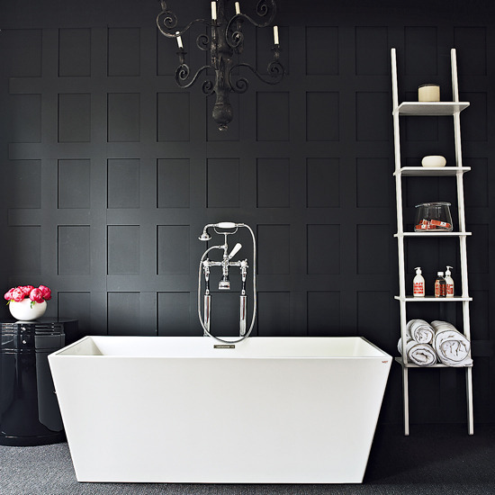 Modern Bathroom Design Ideas 2014: [화장실인테리어] ̚�아한 ˋ�크 ̻�러의 ͙�장실 DARK BATHROOM
