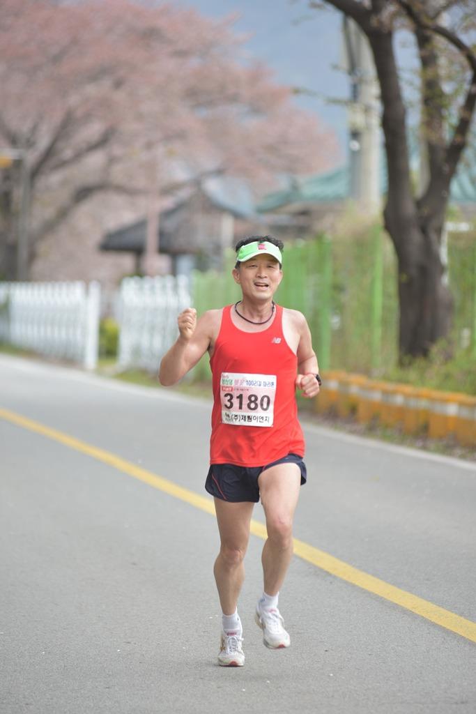 2019 영천댐 벚꽃마라톤대회 주로(11:15 ~ 11:20)