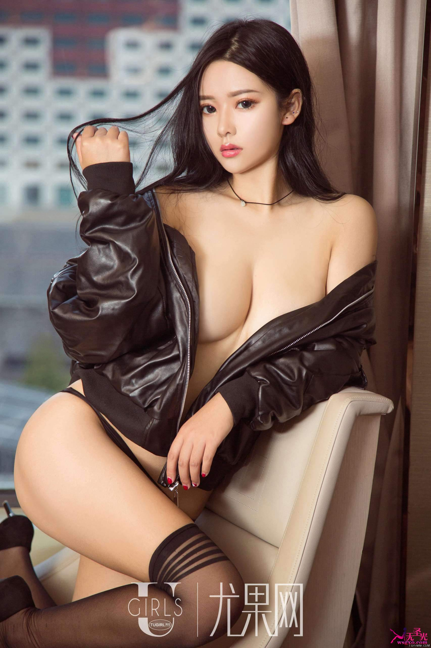 beautiful Chinese glamour in sexy pose